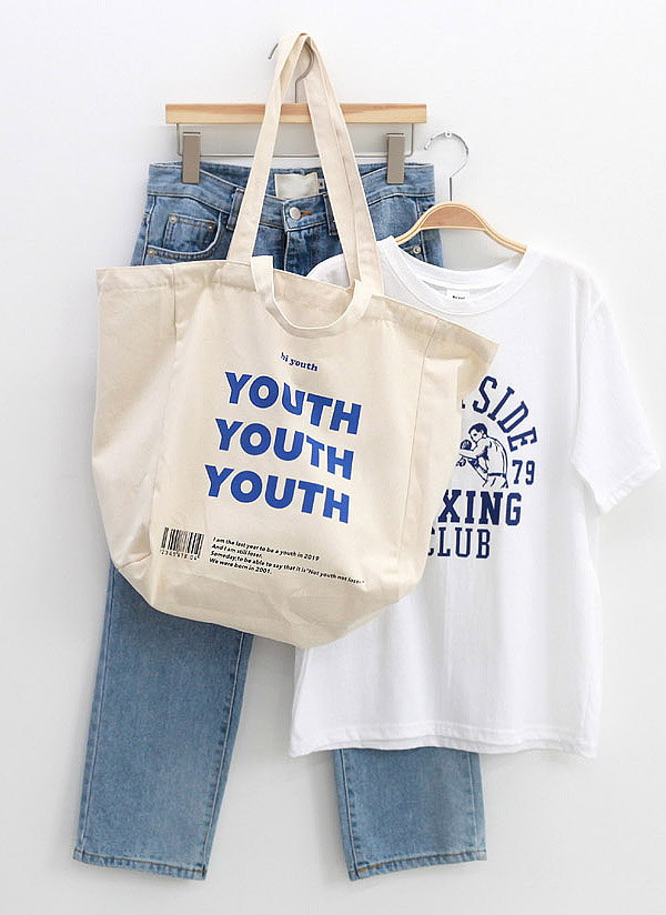 YOUTHプリントトートバッグ