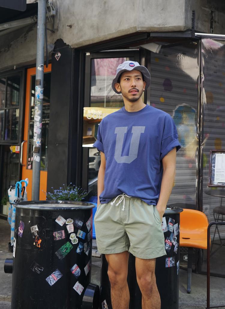 Uロゴ半袖Tシャツ