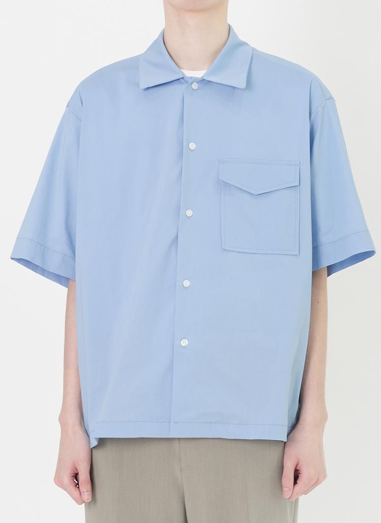ホリゾンタルカラー半袖シャツ