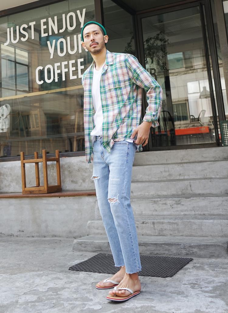 シークレットゴムカットポイントジーンズ