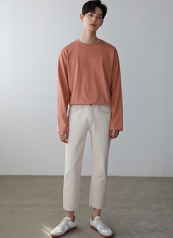 長袖シルケットTシャツ