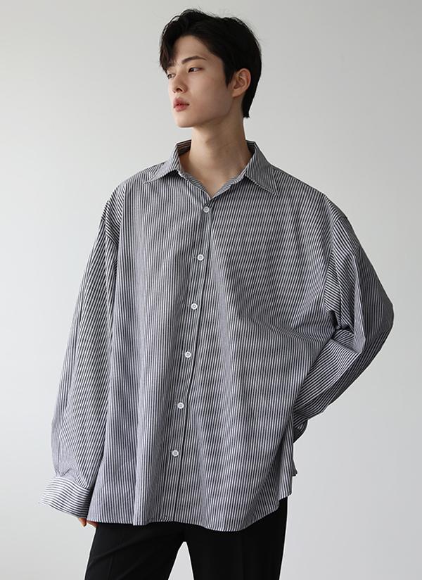 ボックスフィットストライプシャツ
