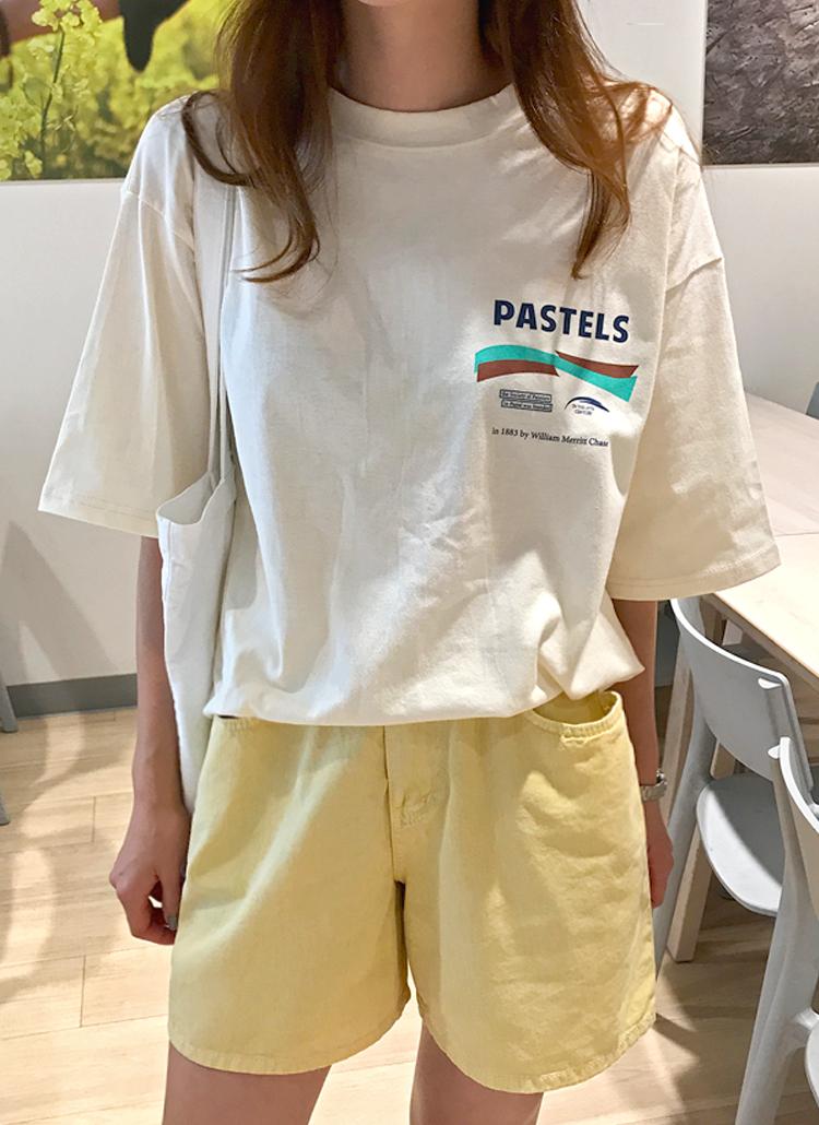 PASTELSロゴ半袖Tシャツ