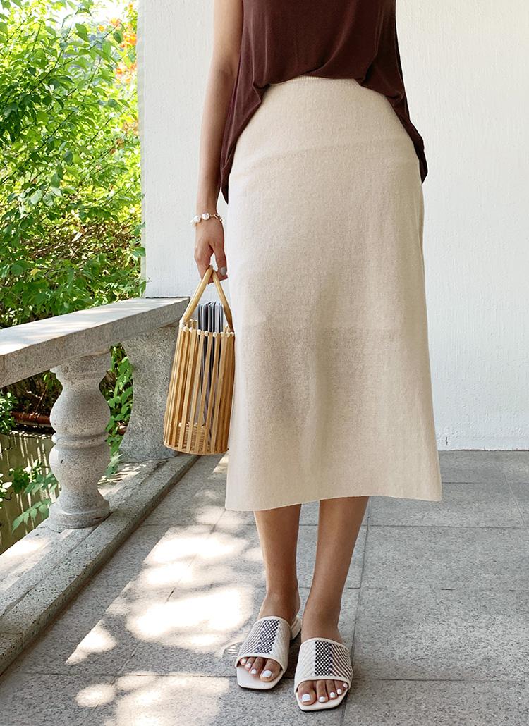 スリットニットスカート・全4色