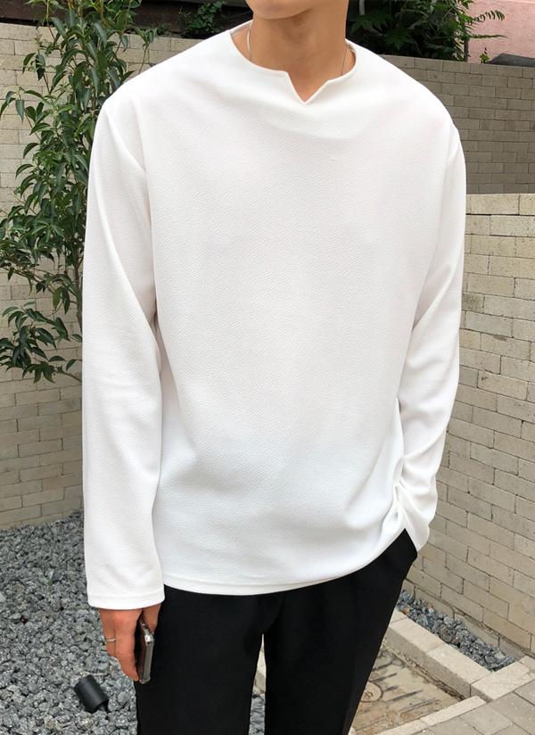 テクスチャーTシャツ(長袖)