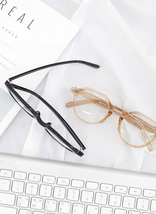 オクタゴンフレーム眼鏡