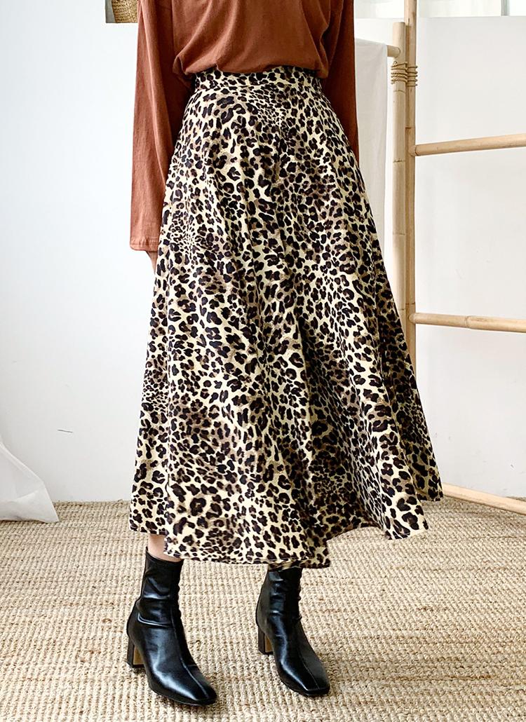 スリットレオパードスカート・全3色
