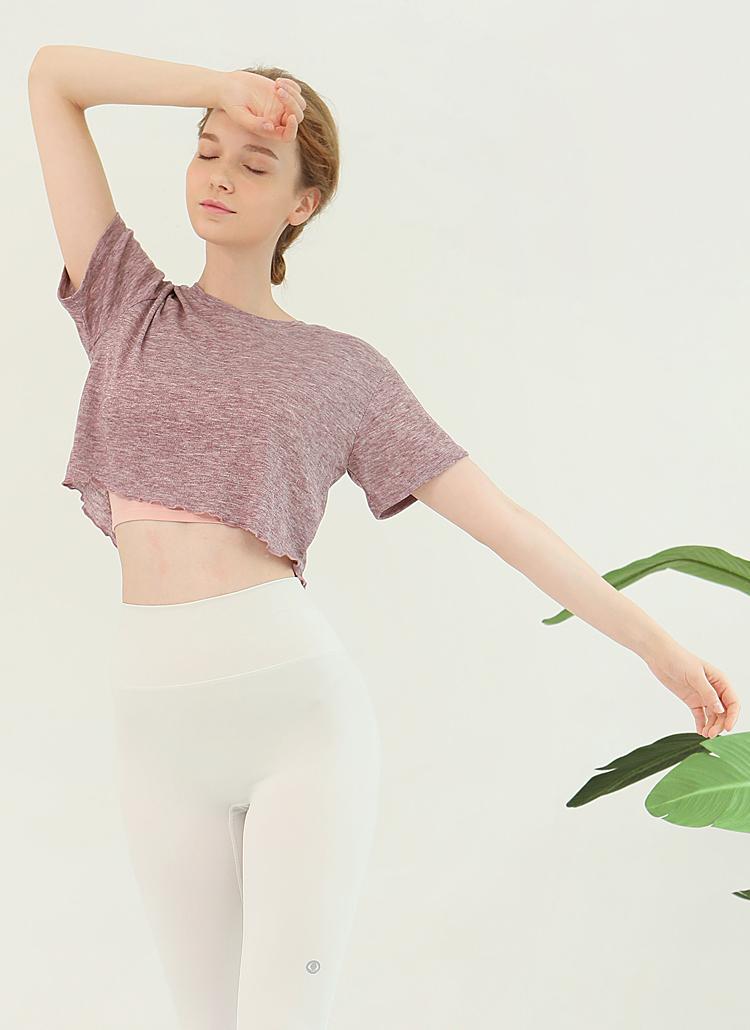 メロウヘムクロップドTシャツ(ミストピンク)