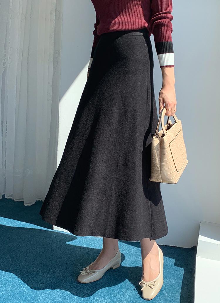 ニットフレアスカート・全3色