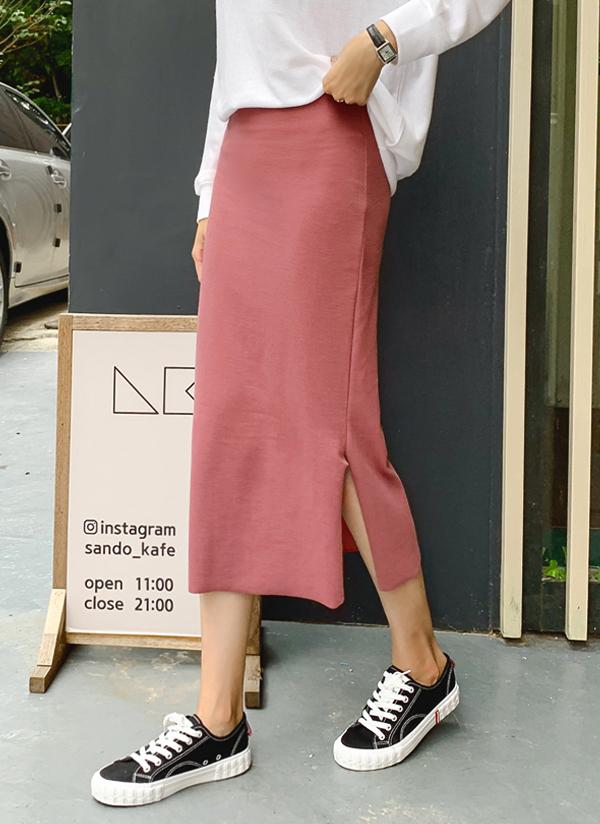 スリットロングタイトスカート