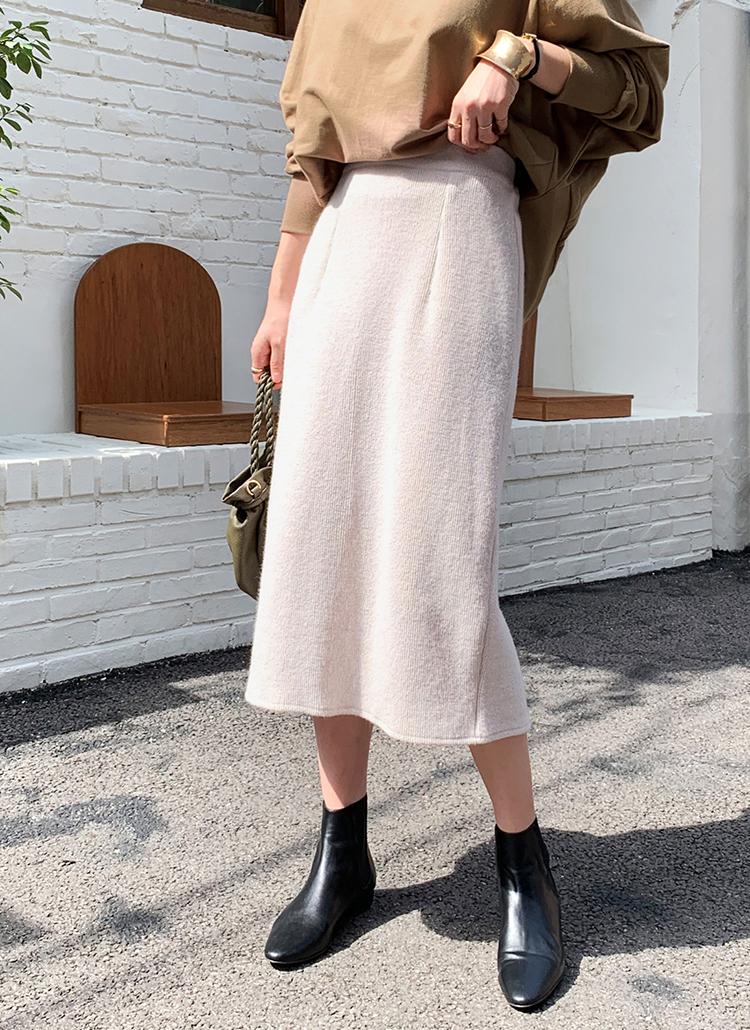 ニットHラインスカート・全4色