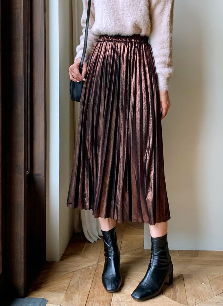 グロッシープリーツスカート・全2色