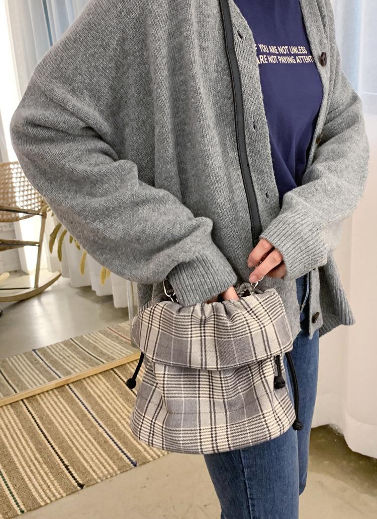 2WAYチェック巾着バッグ・全2色