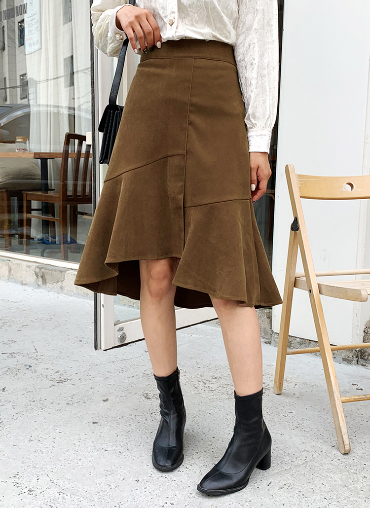アンバランスマーメイドスカート・全3色