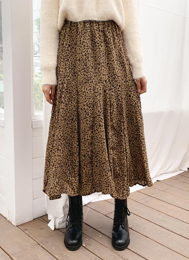 レオパードフレアスカート・全2色