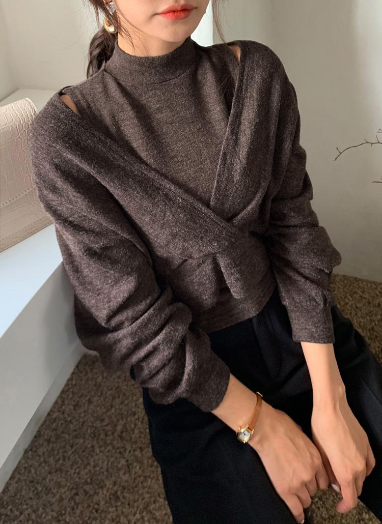スリーブレス&VネックTシャツSET・全3色