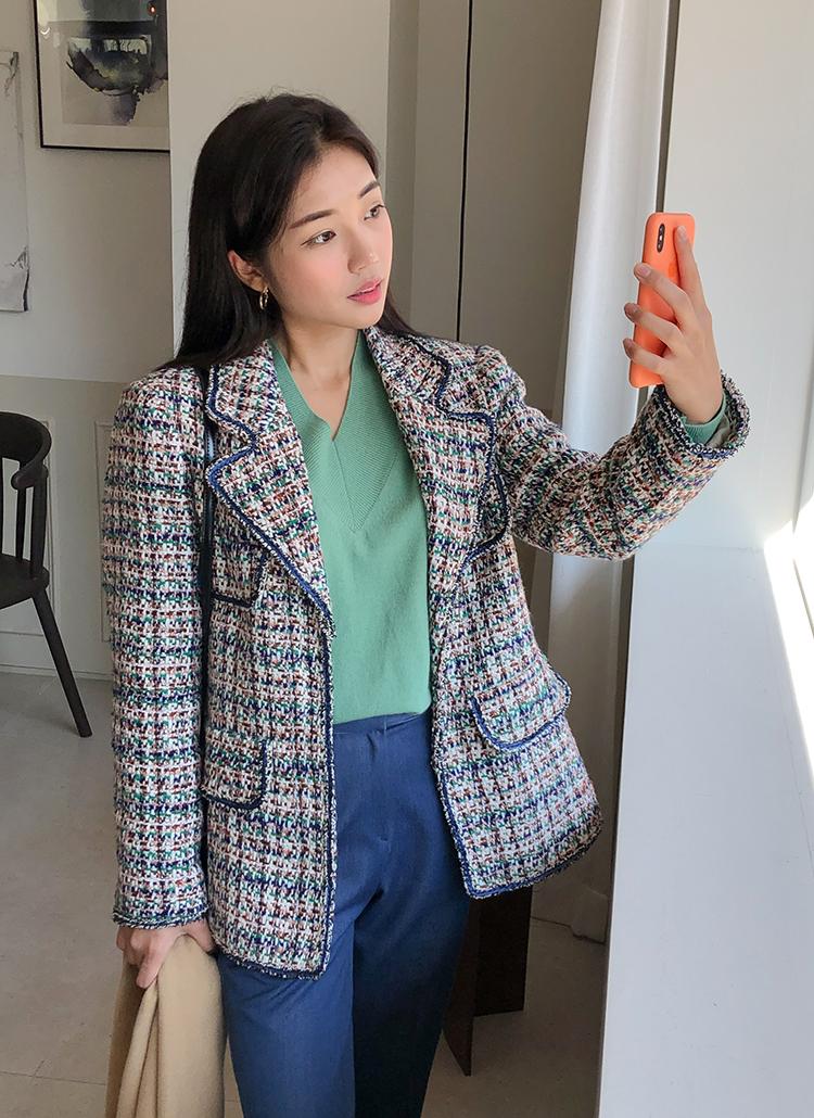 カラーミックスツイードジャケット