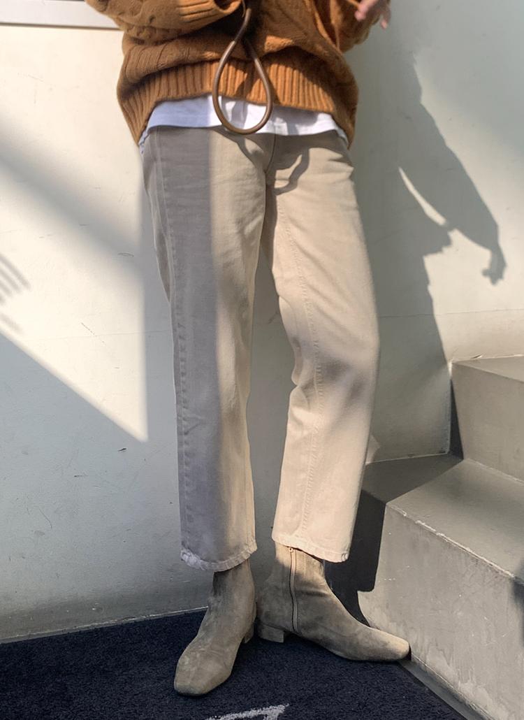 カシミヤ混ビンテージ風パンツ