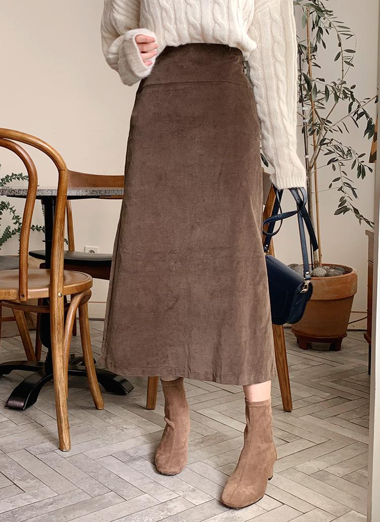バックスリットAラインスカート・全3色