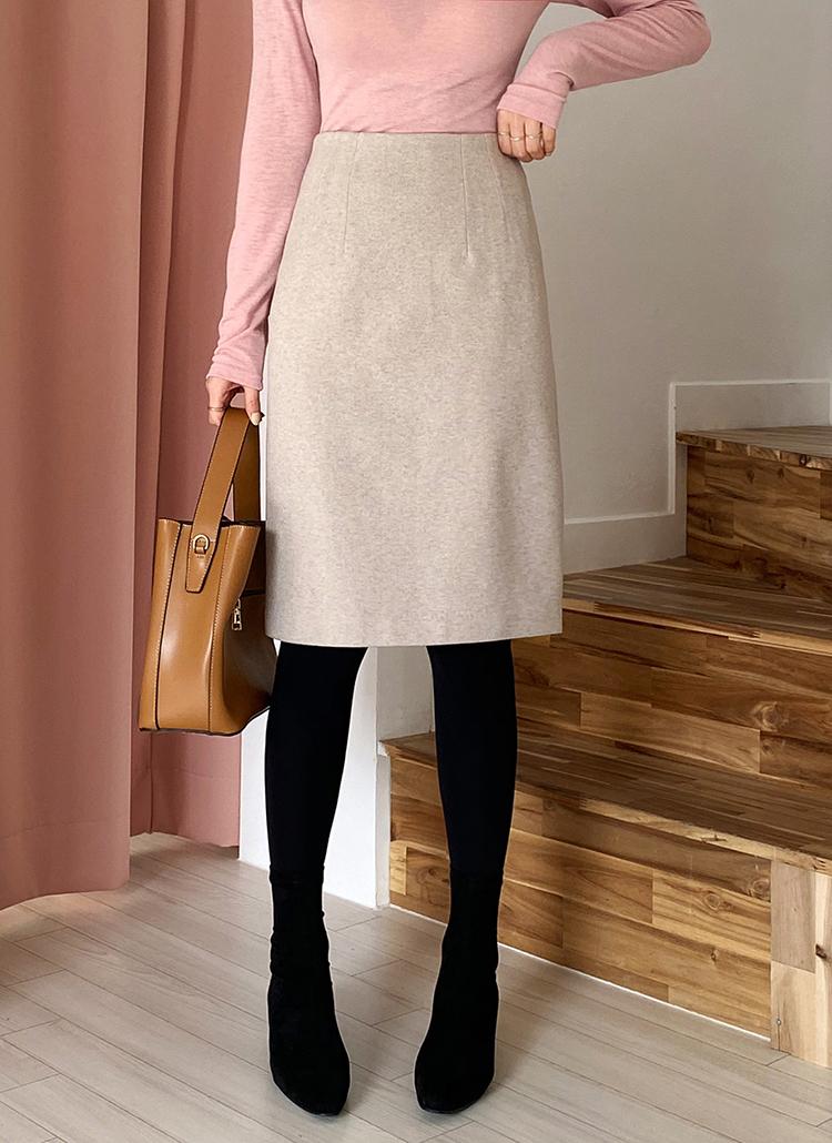 Hラインミディスカート・全3色