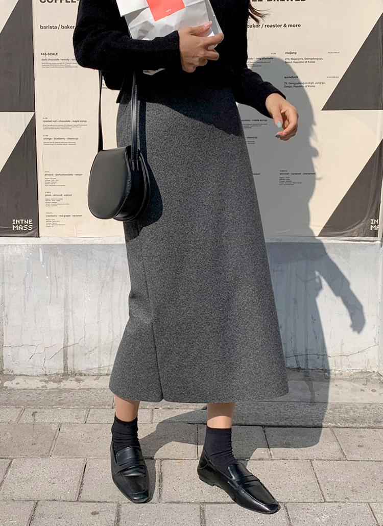 ヘリンボーンスリットスカート