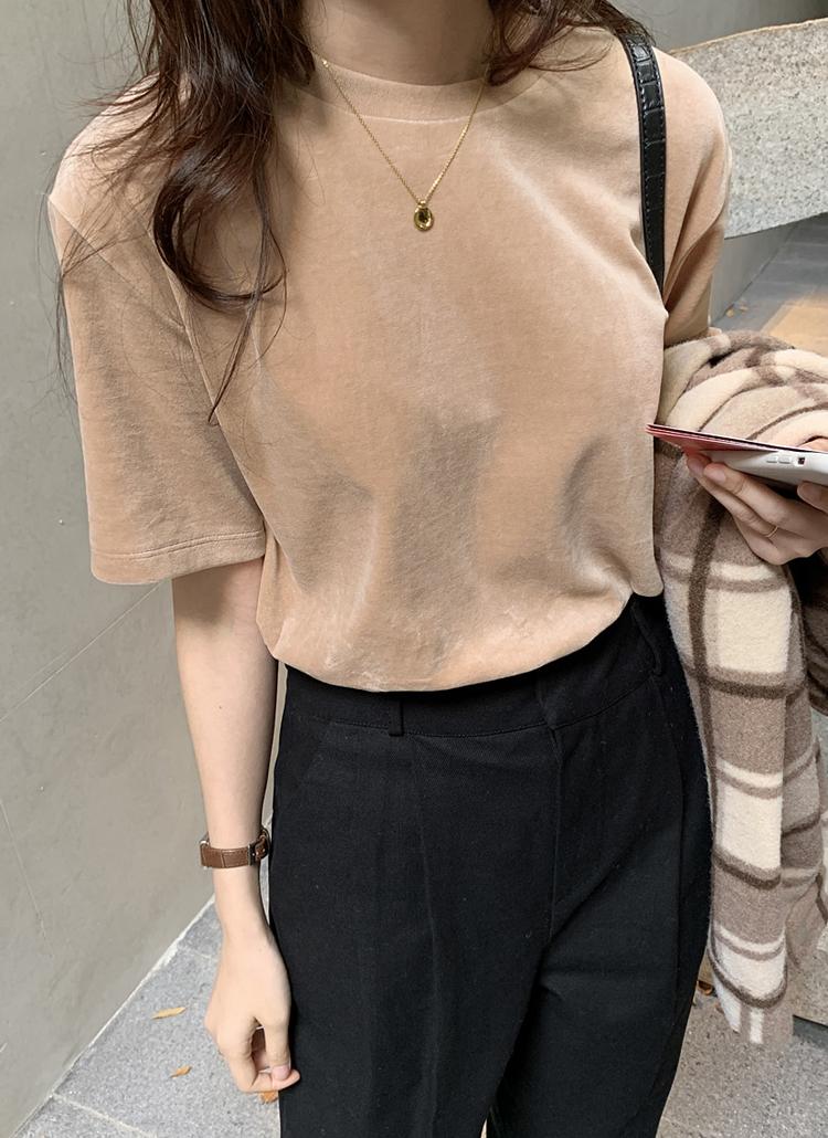 ベロア半袖Tシャツ