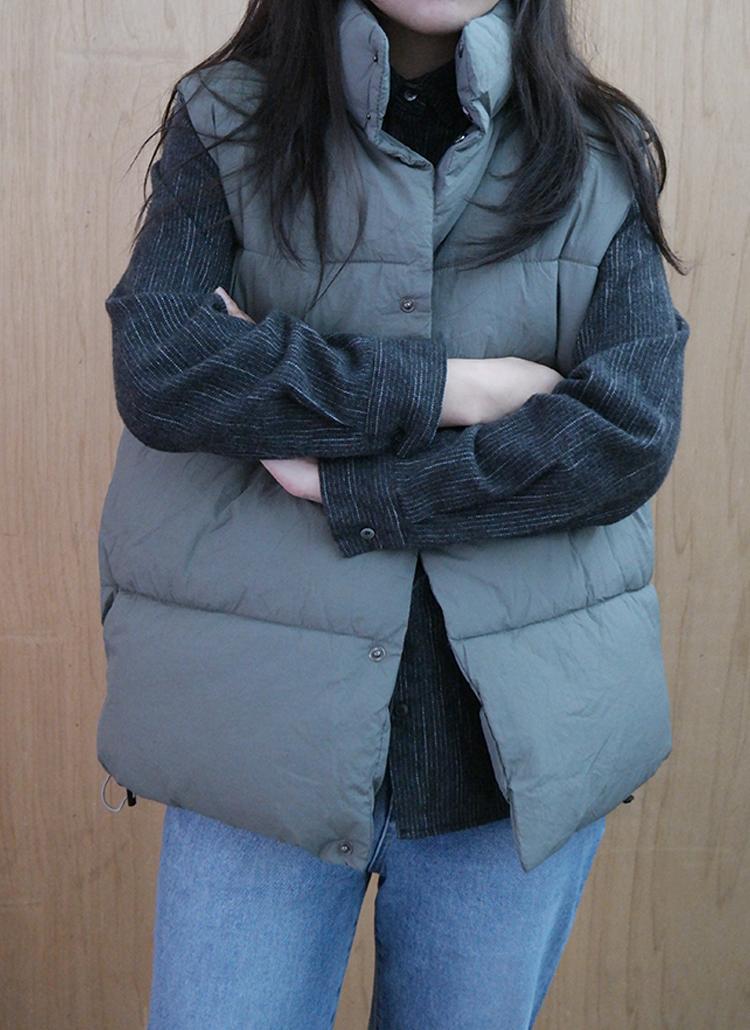 ハイネック中綿ベストジャケット