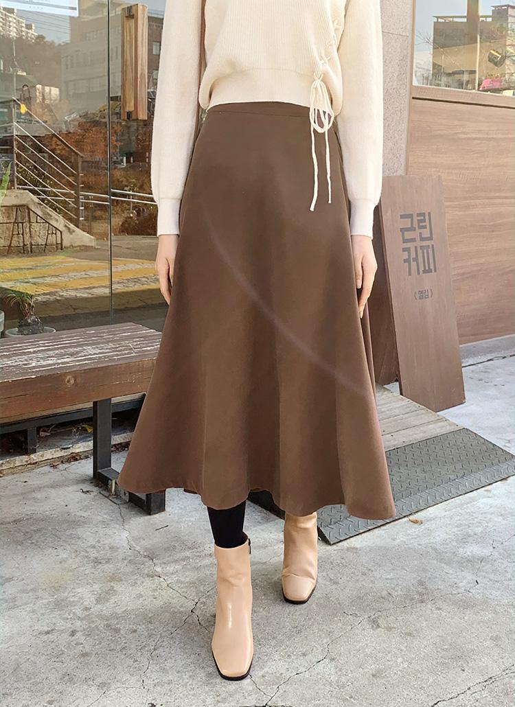 フレアロングスカート・全3色