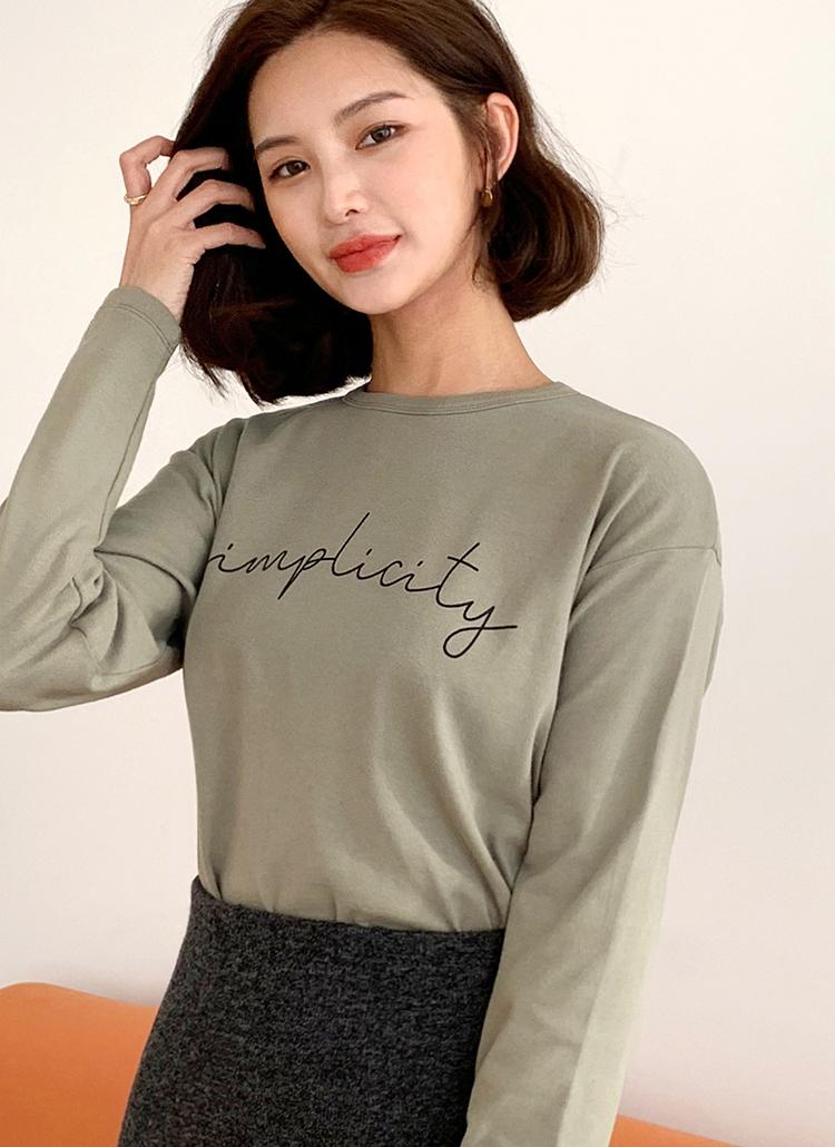 レタリングスリットTシャツ・全4色
