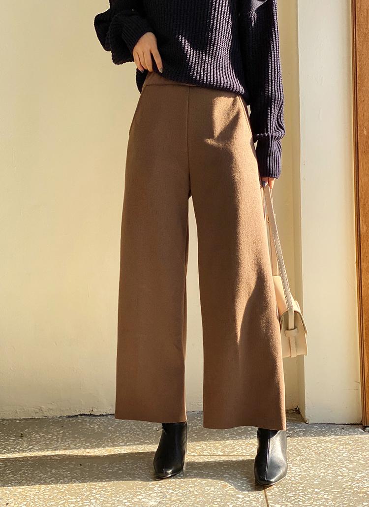 ニットワイドパンツ・全4色パンツ・ズボンパンツ・ズボン