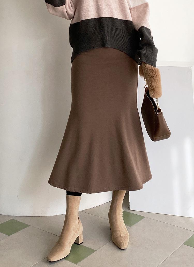 裏起毛フレアスカート・全3色