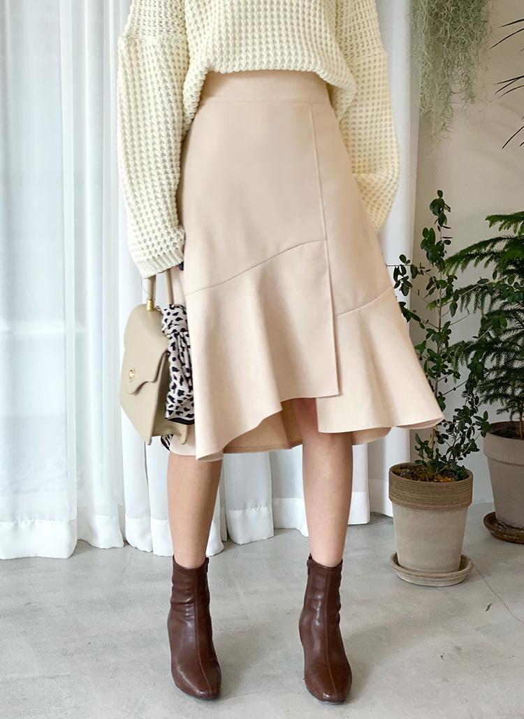 スリットマーメイドスカート・全5色