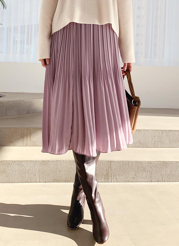 シフォンプリーツスカート・全5色