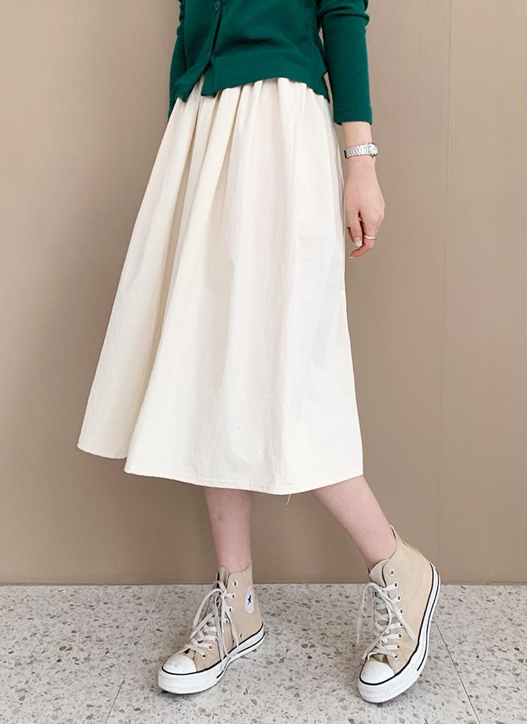 コットンAラインスカート・全7色