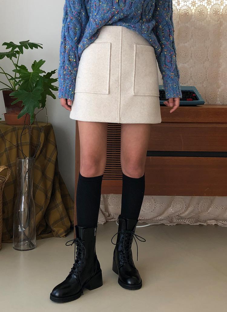 ビッグポケットミニスカート