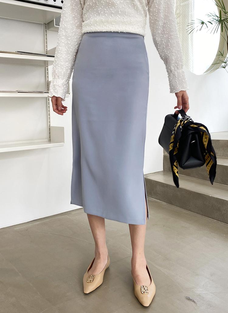 サイドスリットHラインスカート・全4色
