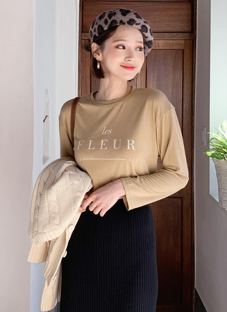 FLEURプリントTシャツ・全4色