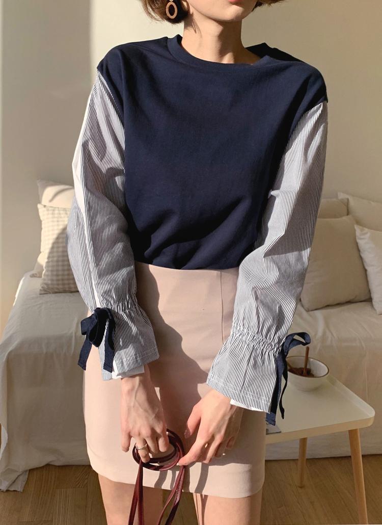 ストライプスリーブTシャツ・全2色