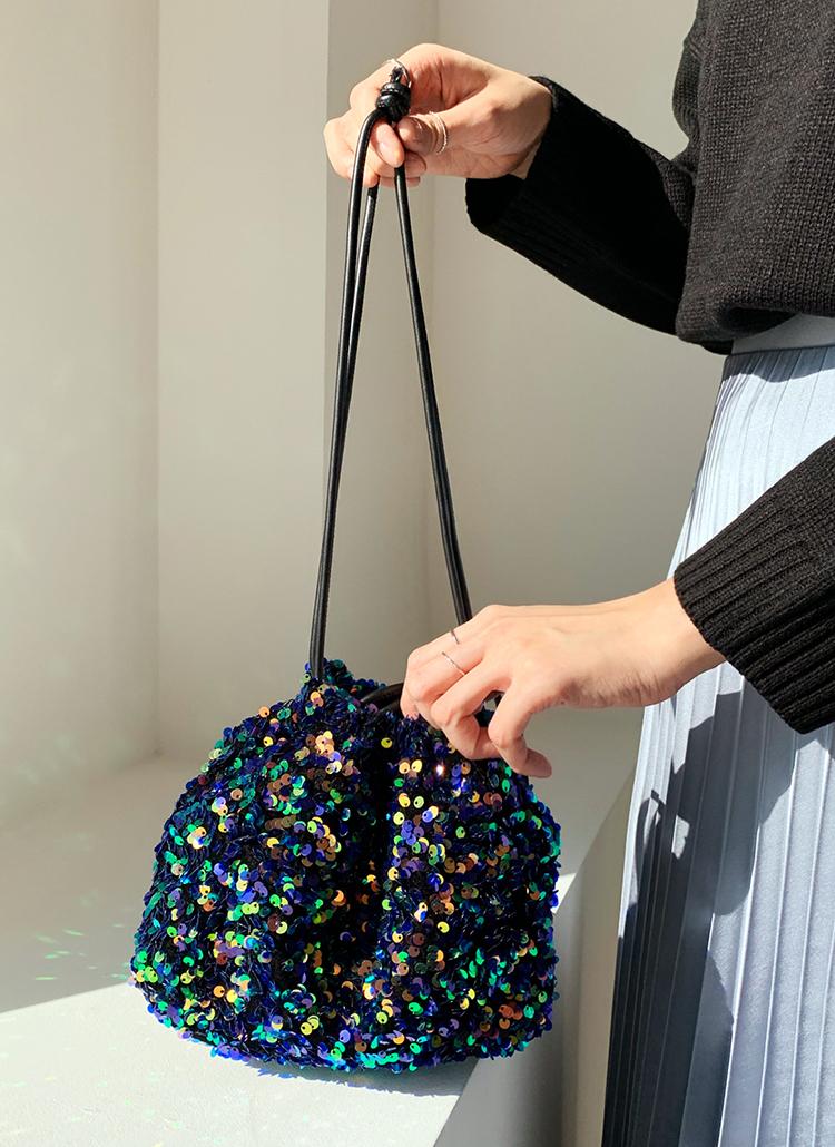 スパンコール巾着バッグ・全4色