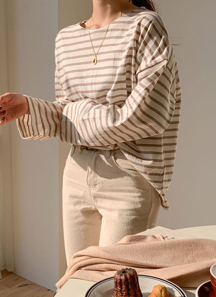 ボーダー長袖Tシャツ