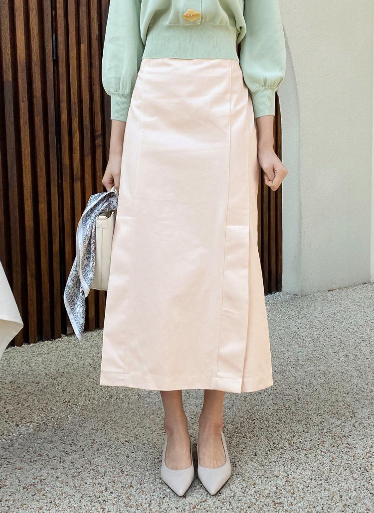 フロントスリットHラインスカート・全3色