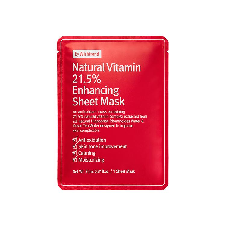 [バイウィッシュトレンド]ナチュラルビタミン21.5%インハンスシートマスク