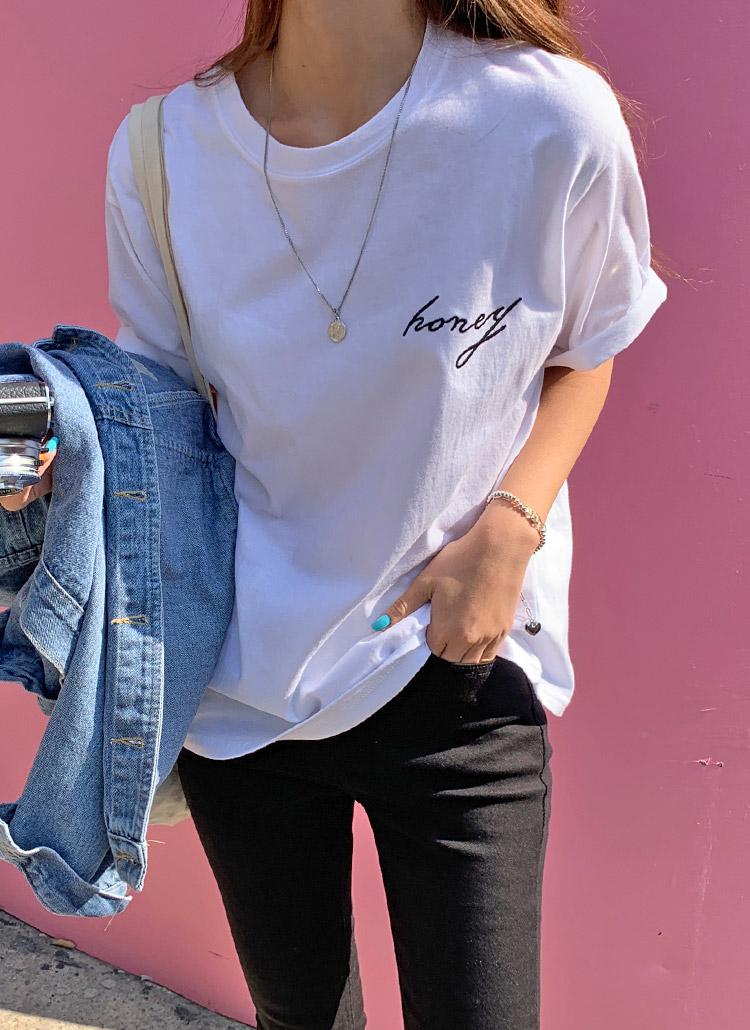 Honey半袖Tシャツ