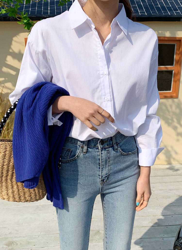 ポケットレスルーズシャツ
