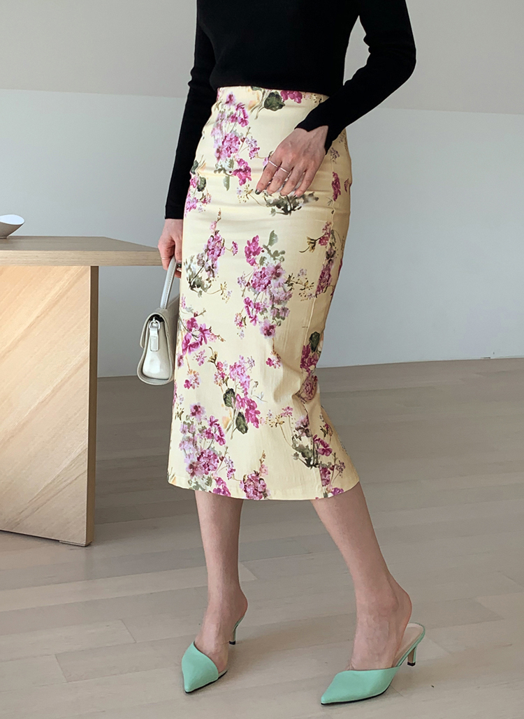 フローラルHラインスカート・全3色