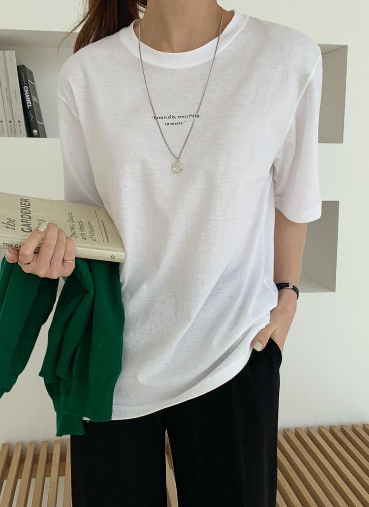 ミニレタリング半袖Tシャツ