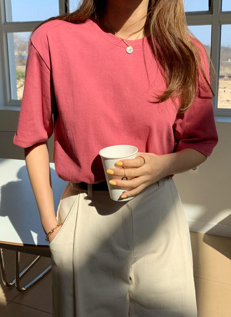 デイリーカラー半袖Tシャツ