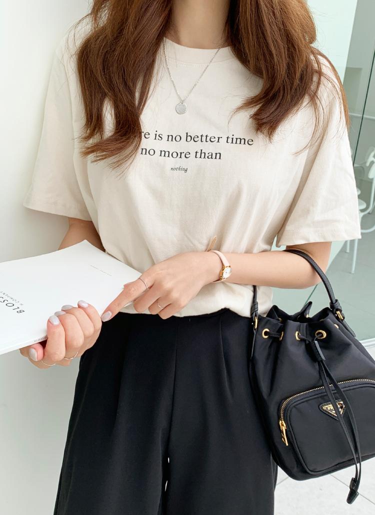TimeレタリングTシャツ