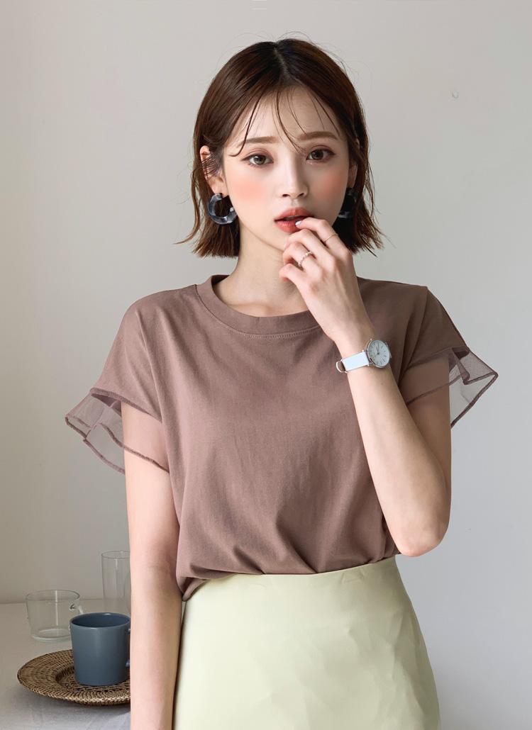 メッシュスリーブTシャツ・全6色