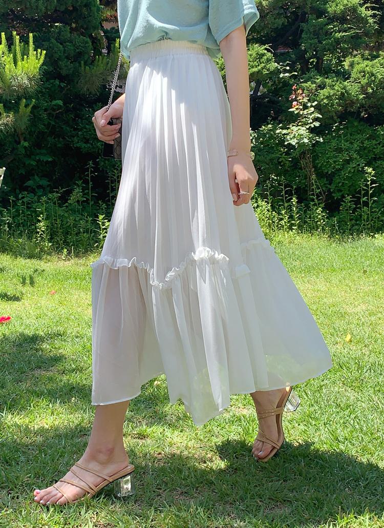 フリルプリーツスカート・全3色